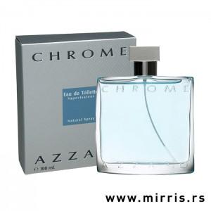 Boca parfema Azzaro Chrome pored originalne kutije
