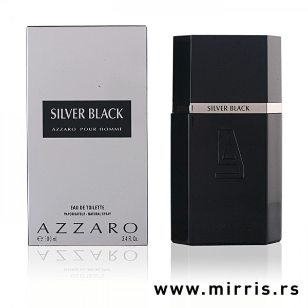 Boca parfema Azzaro Silver Black pored originalne kutije