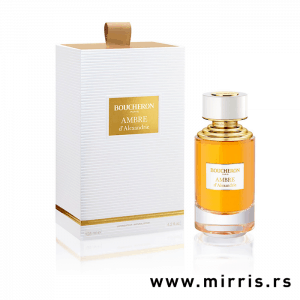 Bočica originalnog parfema Boucheron Ambre D'Alexandrie i njegova kutija