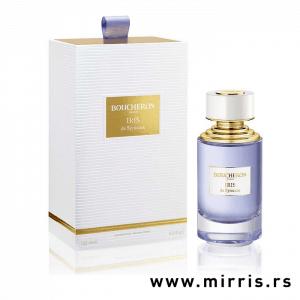 Plava bočica parfema Boucheron Iris de Syracuse i bela kutija