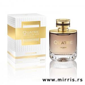 Bočica parfema Boucheron Quatre Absolue De Nuit pored originalne kutije