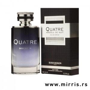 Boca parfema Boucheron Quatre Absolue De Nuit Pour Homme pored originalne crne kutije