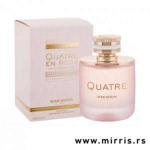 Roze bočica originalnog parfema i njegova kutija