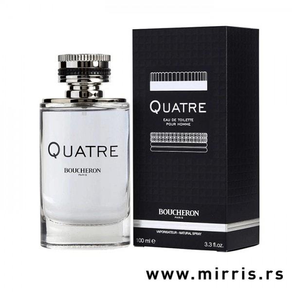Bočica parfema Boucheron Quatre Pour Homme i originalna kutija