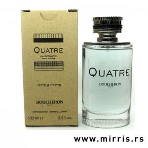 Plava boca testera Boucheron Quatre Pour Homme i kutija