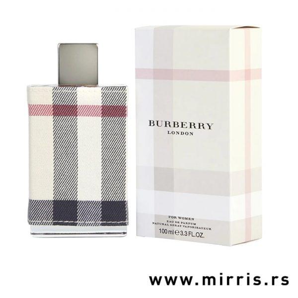 Bočica parfema Burberry London i njegova originalna kutija