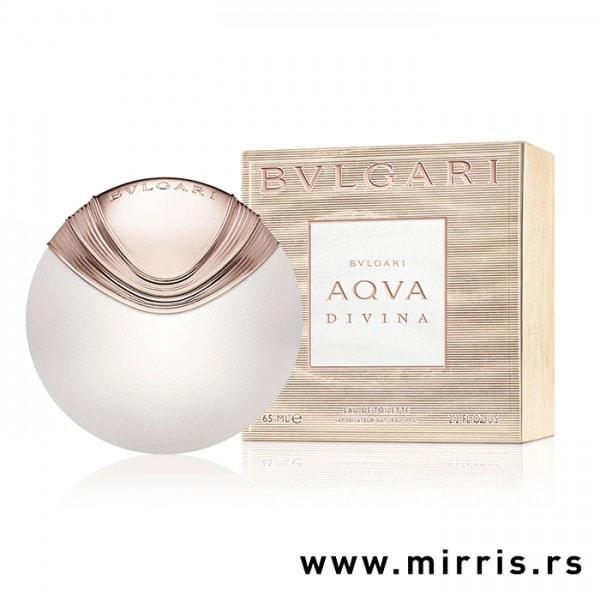 Okrugla boca parfema Bvlgari Aqva Divina i originalna kutija