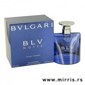 Plava boca parfema Bvlgari BLV i plava kutija