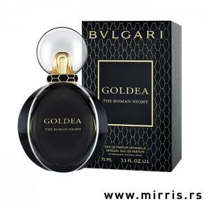 Crna boca parfema Bvlgari Goldea The Roman Night pored originalne kutije