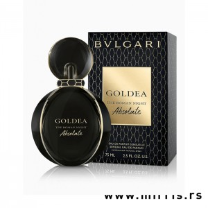 Originalna crna bočica parfema Bvlgari Goldea The Roman Night Absolute i crna kutija