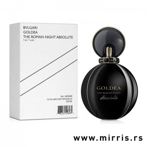Bočica testera Bvlgari Goldea The Roman Night Absolute crne boje i bela kutija