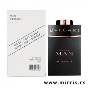Bela kutija i crna bočica testera Bvlgari Man In Black