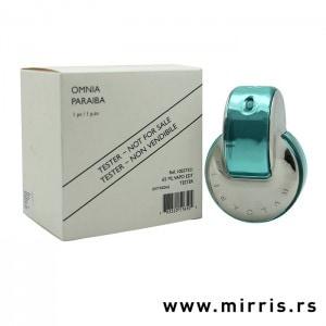 Bela kutija i boca testera Bvlgari Omnia Paraiba