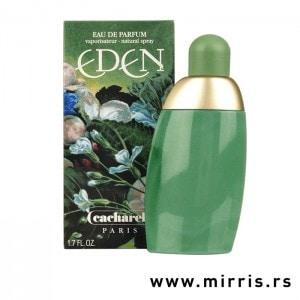 Zelena boca parfema Cacharel Eden i originalna kutija