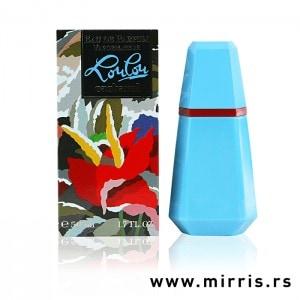 Originalna kutija i svetlo plava bočica parfema Cacharel LouLou