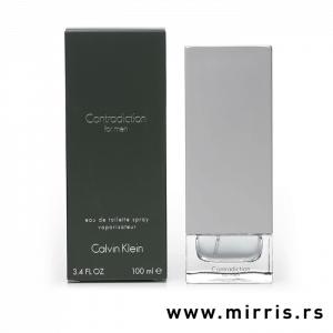 Siva boca parfema Calvin Klein Contradiction pored originalne kutije
