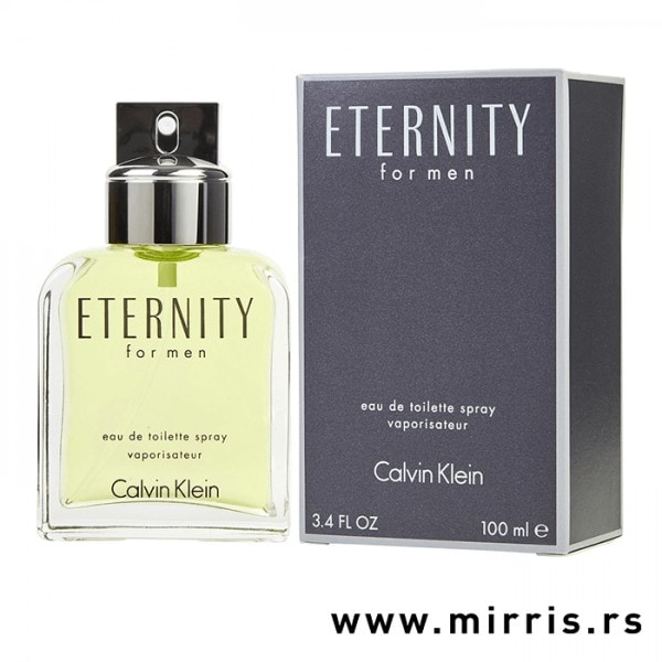 Boca parfema Calvin Klein Eternity For Men pored originalne kutije