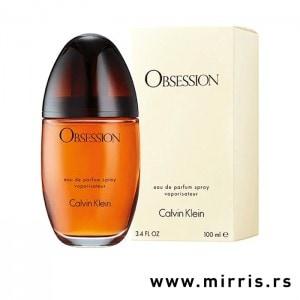 Bočica parfema Calvin Klein Obsession i originalna kutija
