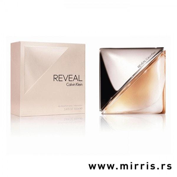 Boca parfema Calvin Klein Reveal i kutija zlatne boje