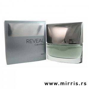 Siva kutija i bova originalnog parfema Calvin Klein Reveal Men
