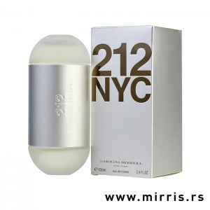 Boca originalnog parfema Carolina Herrera 212 pored sive kutije