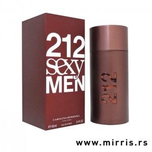 Crvena kutija i boca parfema Carolina Herrera 212 Sexy Men