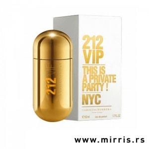 Boca parfema Carolina Herrera 212 VIP zlatne boje i originalna kutija