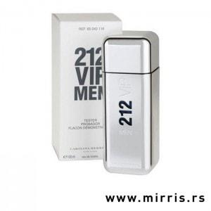 Boca testera Carolina Herrera 212 VIP Men srebrne boje i bela kutija