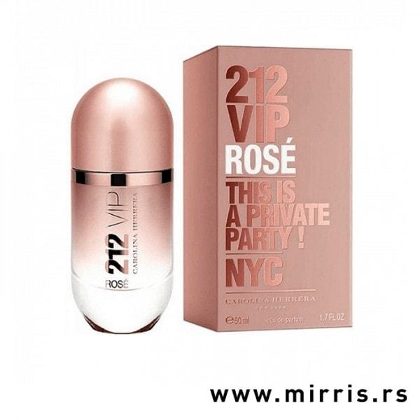 Bočica parfema Carolina Herrera 212 VIP Rose i originalna kutija roze boje