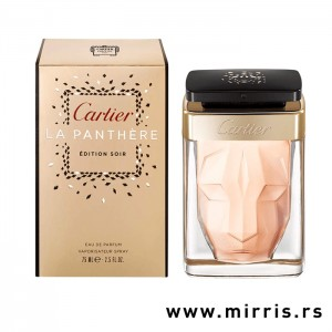 Bočica mirisa Cartier La Panthere Soir pored originalne kutije
