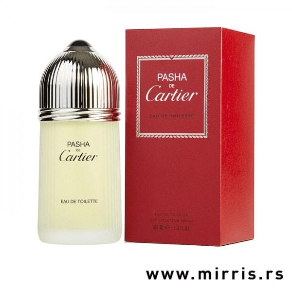 Boca originalnog parfema Cartier Pasha De Cartier i crvena kutija