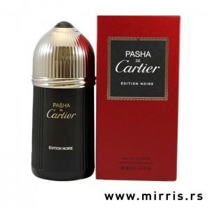 Crna bočica originalnog parfema Cartier Pasha De Cartier Edition Noire i crvena kutija