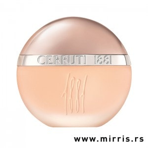 Roze bočica testera Cerruti 1881 okruglog oblika