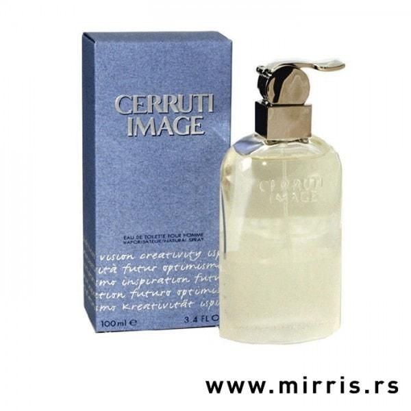 Plava kutija i bočica parfema Cerruti Image