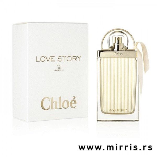 Boca parfema Chloe Love Story pored originalne kutije