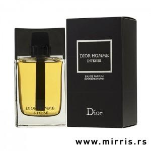 Boca originalnog parfema Christian Dior Dior Homme Intense pored crne kutije