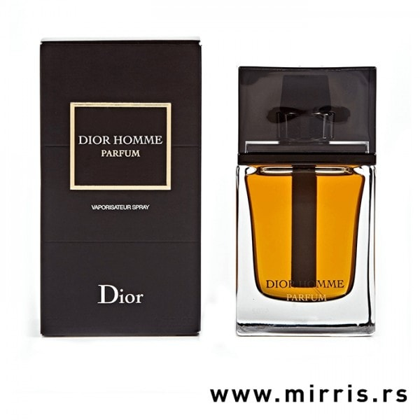 Crna kutija i boca originalnog parfema Christian Dior Dior Homme Parfum