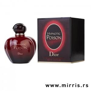 Crvena boca parfema Christian Dior Hypnotic Poison pored originalne kutije