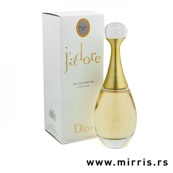 Boca parfema Christian Dior J'adore pored bele kutije