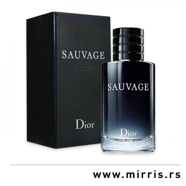 Crna kutija i boca originalnog parfema Christian Dior Sauvage