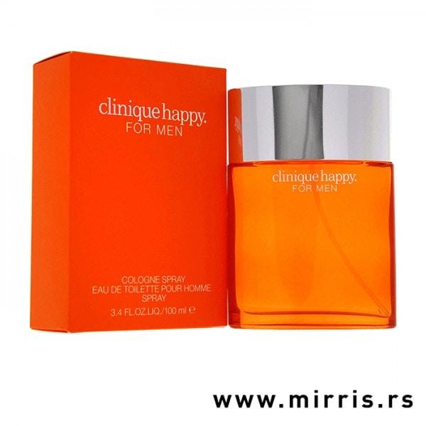 Narandžasta kutija i boca originalnog parfema Clinique Happy Clinique