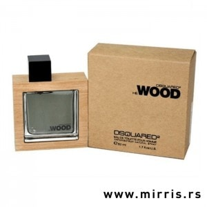 Originalna flašica parfema DSQUARED² He Wood pored njegove kutije