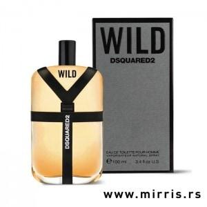 Boca parfema DSQUARED² Wild i kutija sive boje
