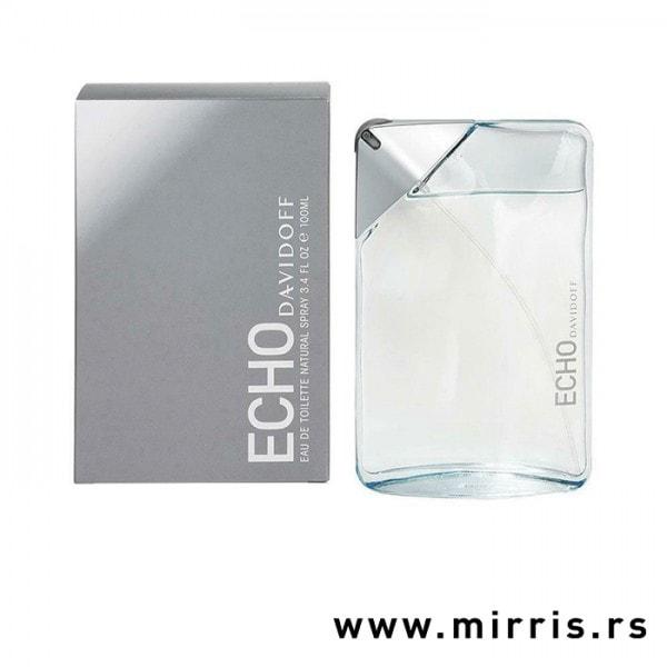 Siva kutija i boca parfema Davidoff Echo