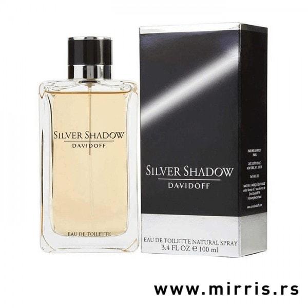 Boca parfema Davidoff Silver Shadow i kutija sive boje