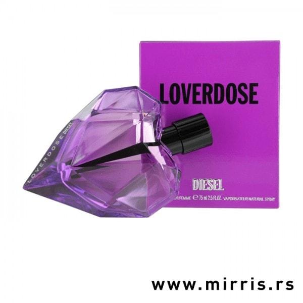 Original boca parfema Diesel Loverdose pored ljubičaste kutije