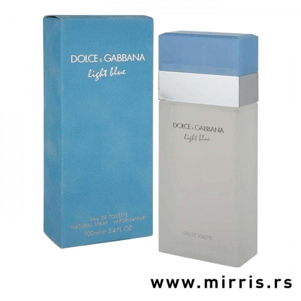 Original boca parfema Dolce & Gabbana Light Blue i svetlo plava kutija