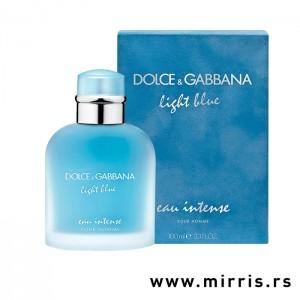 Plava boca parfema Dolce & Gabbana Light Blue Pour Homme Intense i originalna kutija