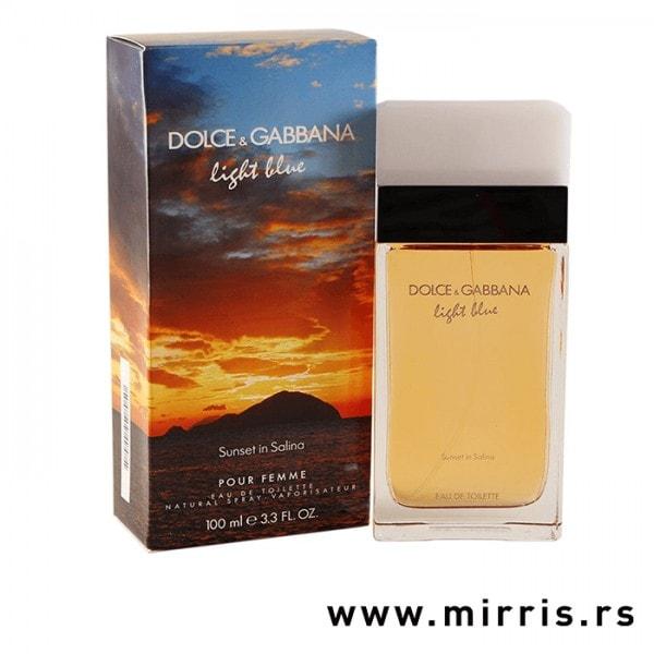 Boca parfema Dolce & Gabbana Light Blue Sunset in Salina pored originalne kutije
