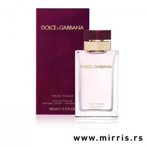 Boca parfema Dolce & Gabbana Pour Femme i ljubičasta kutija